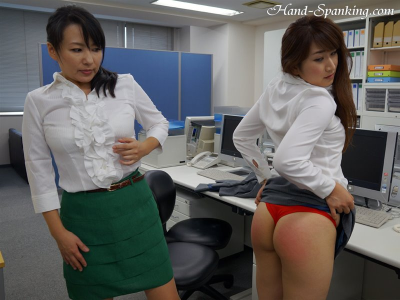 Cover New Employee Punishment Pt.2 - hand-spanking - HD/WMV
