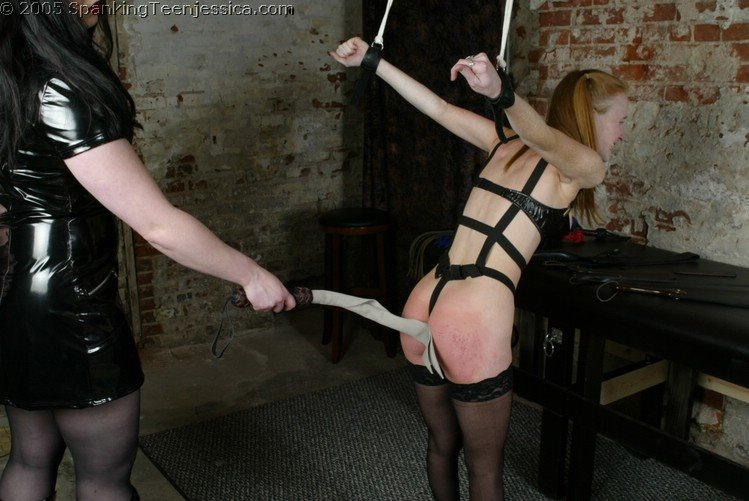 Wife in bondage and spanked