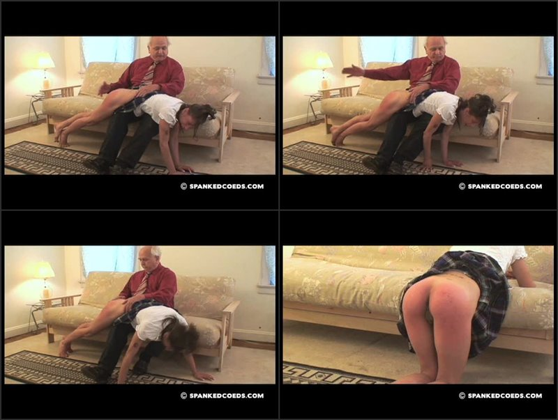 Daija Spanked for Leaving Lights on -- Again! - spankedcoeds - SD/WMV - image1