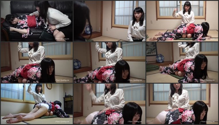 Screenlist Spanked In Yukata Dress - hand-spanking - HD/MP4