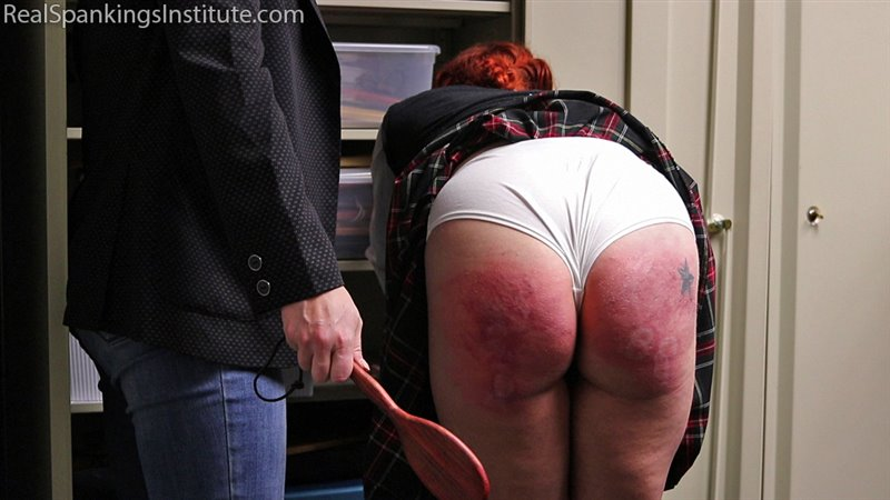 Caught In The Implement Room - realspankingsinstitute - Full HD/MP4 - image1