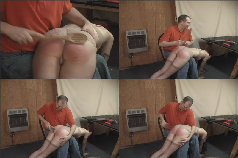 Kajira's Otk Spoon And Hairbrush Spanking - girlsspankedhard - HD/MP4 - image1