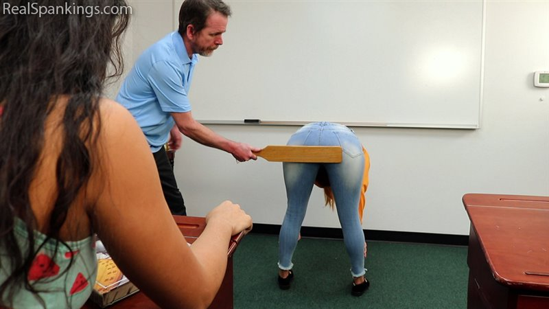 Paddled For Disrupting Class (part 1 Of 2) - realspankings - Full HD/MP4 - image1