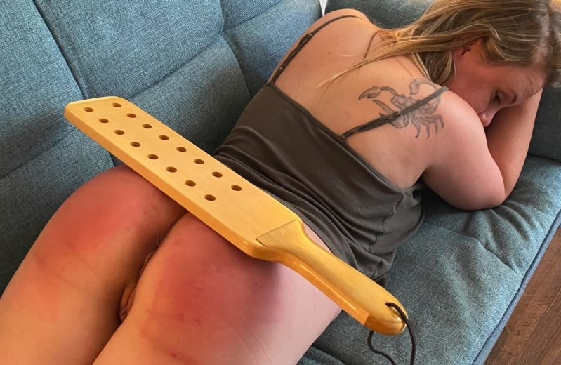 Caught Napping 2 - Bare Bottom Afternoon Delight Strapping And Paddle - I Heart Spankings - Full HD/MP4 - image1